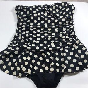 Lauren Ralph Lauren polka dot swimsuit Size 10